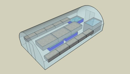 Large Polytunnel Aquaponic System